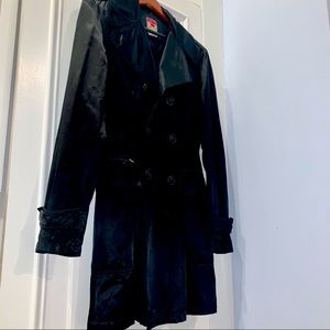 Diesel black fitted jacket satin like- Runs Small.